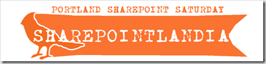 SHAREPOINTLANDIA LOGO - ALL ORANGE - WHITE BIRD OUTLINE