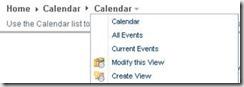 SharePoint Calendar Breadcrumb