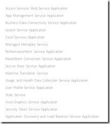 SharePoint 2013 Enterprise Service Applications